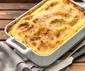 Ovenschotel van aardappelen
