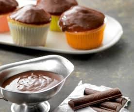 Chocoladeglazuur (eenvoudige ganache)
