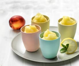 Quick fruit sorbet
