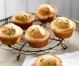Muffins con gocce di cioccolato