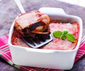 Bakłażan zapiekany z parmezanem i mozzarellą