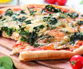 Pizza ze szpinakiem i owczym serem