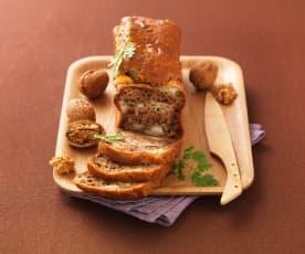 Plumcake salato con formaggio di capra e noci