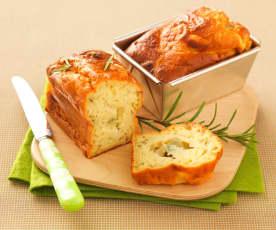 Cake au miel, romarin et gorgonzola