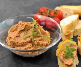 Pomazánka z rybiček v tomatové omáčce