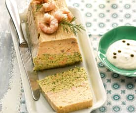 Salmon Terrine with Peppered Crème Fraîche