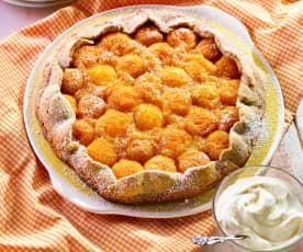 Ořechový koláč s meruňkami