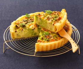 Listový koláč s romanescem a modrým sýrem