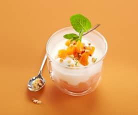 Tartare d'abricots mousse de mascarpone