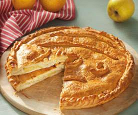 Empanada de bacalao y manzana