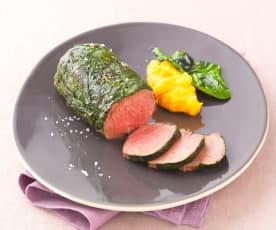 Hovězí steaky v papilotě