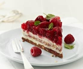 Himbeer-Nougat-Crunch-Torte