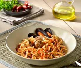 Spaghettini al sugo di cozze e vongole