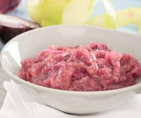 Salsa di cipolle rosse e mele
