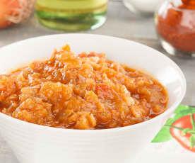 Salsa di pomodori, pancetta e paprika