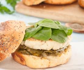 Hamburger di merluzzo e gamberi
