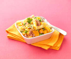 Penne with Diced Butternut Squash and Ham