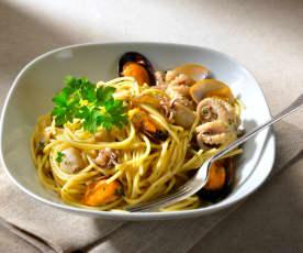 Spaghetti alla marinara in bianco
