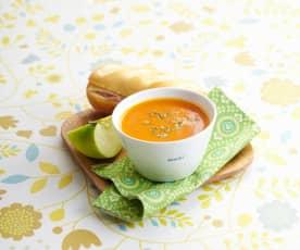 Velouté butternut-poivron rouge