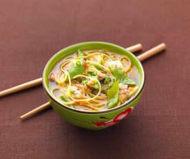 Nouilles chinoises aux légumes variés