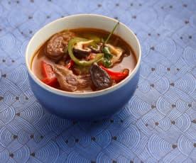 Soupe asiatique au bœuf