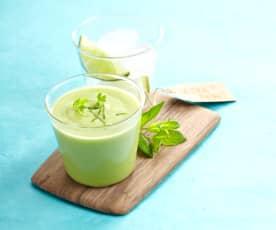 Gaspacho d'avocat au citron vert