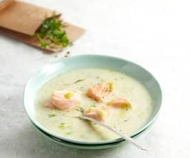 Soupe de saumon à l'aneth