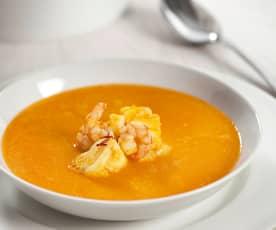 Monkfish and prawn soup