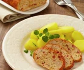 Krůtí sekaná s chorizem a bramborami