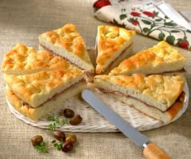 Focaccia alla crema di formaggi