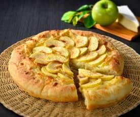 Pizza aux pommes et au brie