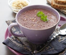 Zabijačková černá polévka