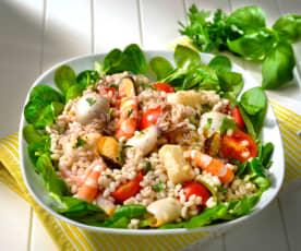 Seafood Salad with Pearl Barley