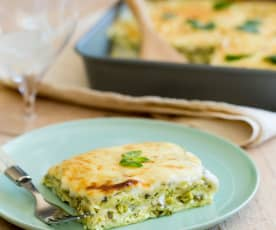 Ricotta, Mint and Courgette Lasagne