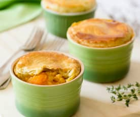 Lentil and Pumpkin Pot Pies