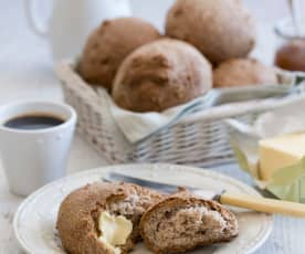 Glutenvrije broodjes zonder granen