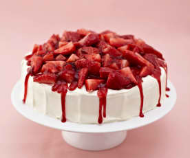 Jahodovo-broskvový dort