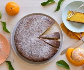 Cake met polenta, mandarijn en amandelen