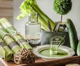 Gazpacho de pepino y hierbabuena
