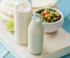 Yoghurt and jalapeño dressing