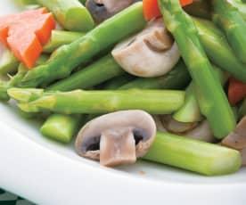 蘆筍炒磨菇