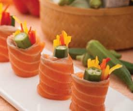 秋葵鮭魚捲