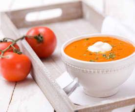 Rajská polévka s kořenovou zeleninou