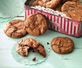 Biscotti sfogliati al cioccolato