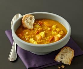 Čočkovo-dýňová polévka