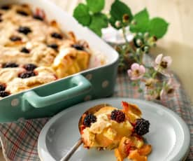 Apple and Blackberry Pudding
