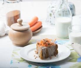 Pastel de nueces y zanahorias