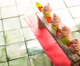 Barquillos de fresa