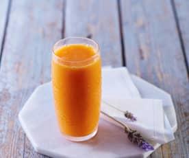 Jugo integral de naranja con zanahoria