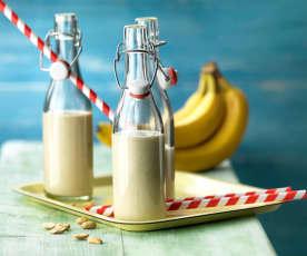 Koktajl śniadaniowy bananowo-orzechowy